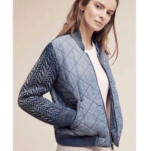 Anthropologie Cloth & Stone Bomber Jacket Small
